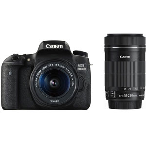 CANON デジタル一眼レフカメラ EOS 8000D(W)・ダブルズームキット[0019C004]