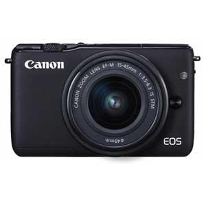 CANON ミラーレスカメラ EOS M10 (ブラック)・EF-M15-45 IS STM レンズキット[0584C014]