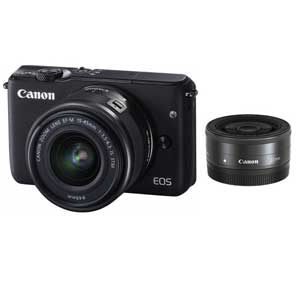 CANON ミラーレスカメラ EOS M10 (ブラック)・ダブルレンズキット[0584C024]