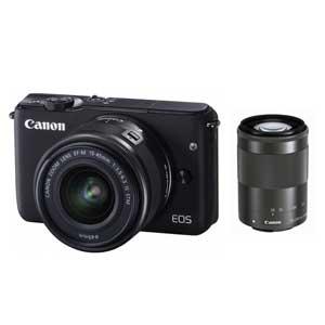 CANON ミラーレスカメラ EOS M10 (ブラック)・ダブルズームキット[0584C034]