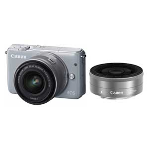 CANON ミラーレスカメラ EOS M10 (グレー)・ダブルレンズキット[0923C024]