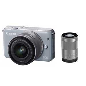 CANON ミラーレスカメラ EOS M10 (グレー)・ダブルズームキット[0923C034]