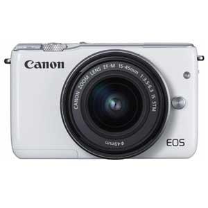 CANON ミラーレスカメラ EOS M10 (ホワイト)・EF-M15-45 IS STM レンズキット[0922C014]