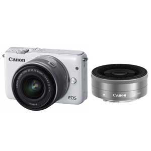 CANON ミラーレスカメラ EOS M10 (ホワイト)・ダブルレンズキット[0922C024]