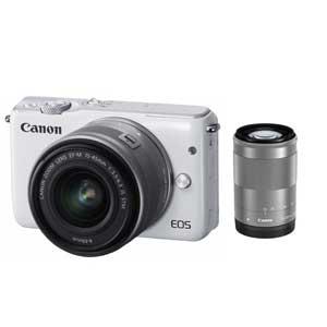 CANON ミラーレスカメラ EOS M10 (ホワイト)・ダブルズームキット[0922C034]