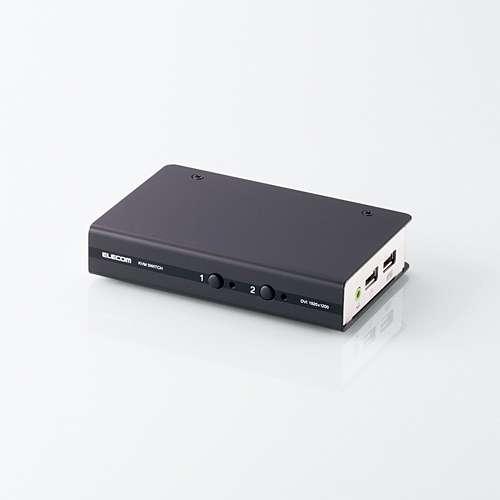 ELECOM DVI対応パソコン切替器/パソコン切替器/DVI対応/BOX型/2ポート