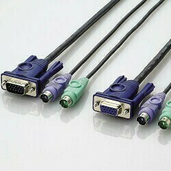 ELECOM パソコン切替器用接続ケーブル 1.8m
