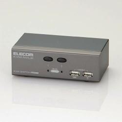 ELECOM PC切替器/USB/2ポート