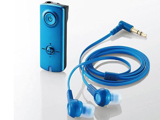 ELECOM AAC対応BT Audio Receiver (イヤホン付) LBT-PHP150BU LBT-PHP150BU