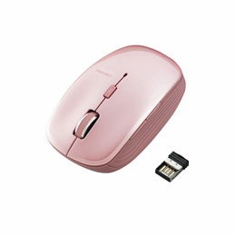 """ELECOM Web閲覧に便利な""""戻る・進むボタン付き!よく使う機能に割り当てを変更できる5ボタンを搭載したワイヤレスBlueLEDマウス。"""