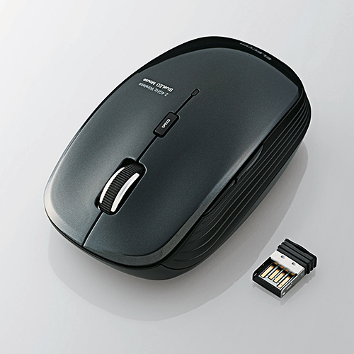 ELECOM 5ボタン BlueLED 静音マウス
