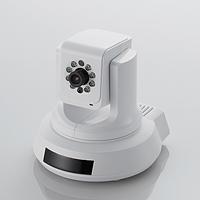 ELECOM 有線ネットワークカメラ/パンチルト+ナイトビジョン+LEDドングル対応機能搭載