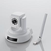 ELECOM 無線ネットワークカメラ/433+150Mbps/11ac/パンチルト+ナイトビジョン+LEDドングル対応機能搭載