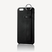 ELECOM iPhone6Plus/6sPlusオープンレザー固定バンド PM-A15LPLOSBK PM-A15LPLOSBK