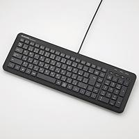 ELECOM コンパクト有線キーボード TK-FCM074PBK
