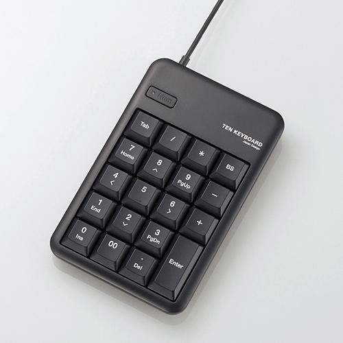 ELECOM 2ポートUSB2.0HUB付USBテンキーボード