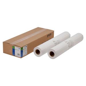EPSON 普通紙ロール紙幅約610mm/坪量90g/?・厚さ0.11mm・白色度84・長さ100m(50m×2本)