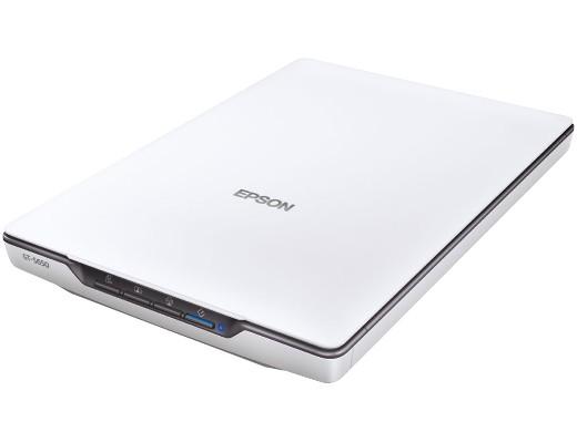 EPSON A4フラッドヘッドスキャナー PCの近くで便利に使えるUSBバスパワー駆動
