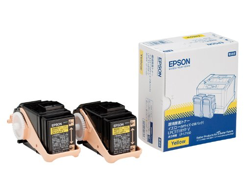 EPSON 環境推進トナー ETトナー(イエロー)(6、500ページ×2個パック) LP-S7100シリーズ/LP-S8100シリーズ LPC3T18YPV