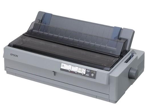 EPSON 24ピン、136桁、6枚複写、連続紙トラクタ2基 ドットプリンター