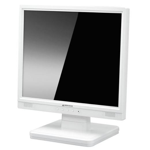GREENHOUSE 硬化ガラス製フィルタ装着・スピーカー内蔵17型ディスプレイ