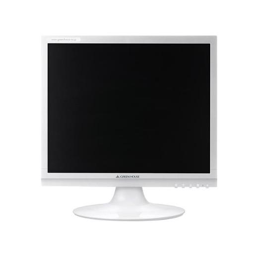 GREENHOUSE 17型カラーLED液晶ディスプレイ VGA/DVI ホワイト