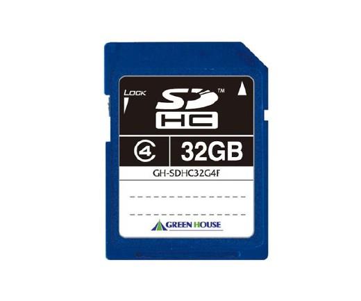 GREENHOUSE SDHCメモリーカード(MLCチップ)8GBクラス4
