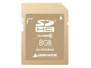 GREENHOUSE SDHCカード クラス10 8GB サンドベージュ