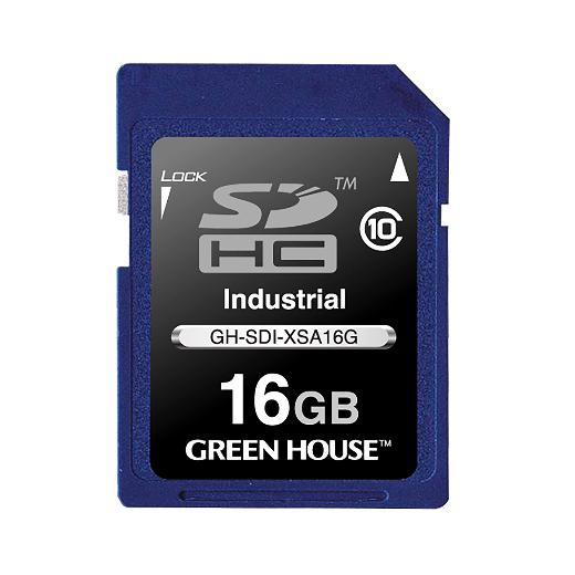 GREENHOUSE SDカード / SDHCカード(工業用) GH-SDI-XSA16G