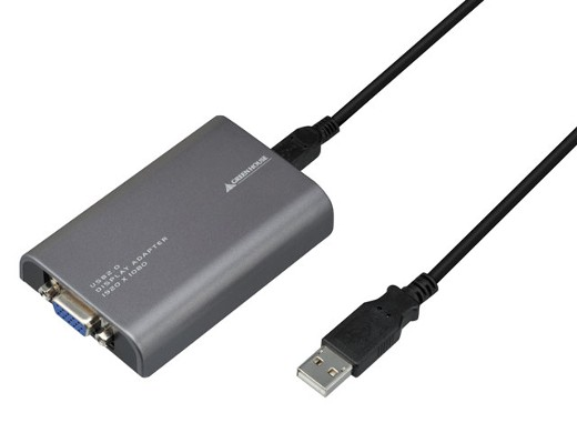 GREENHOUSE USB-VGA �t��HD�Ή� �ϊ��A�_�v�^ GH-USB-VGAFHD