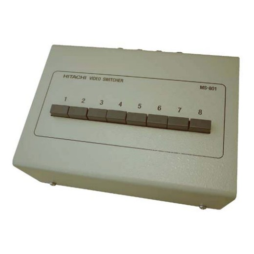 HITACHI 8台までの映像信号を押しボタンで選び出す