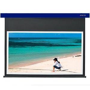KIKUCHI 電動スクリーン100型 コバルトブルー SES-100HDPG_B