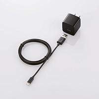 LOGITEC 2.4ALightningAC充電器 LPA-ACUES100BK LPA-ACUES100BK