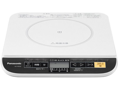 NATIONAL IH調理器 静音&1000Wセーブモード KZ-PG32