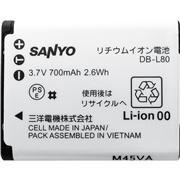 SANYO DMX-CA100���p���`�E���C�I���[�d�r DB-L80