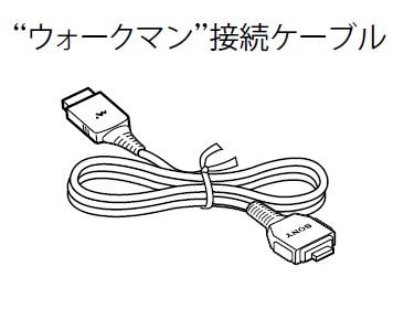 SONY 【部品】ウォークマン接続ケーブル DLC-NWV50