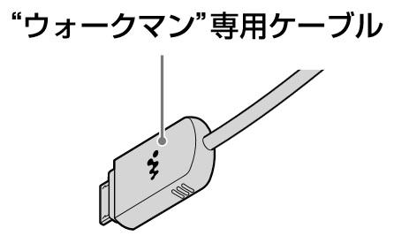 SONY 【部品】接続ケーブル(ウォークマン専用ケーブル)