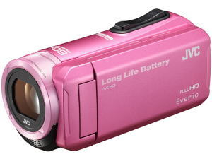 VICTOR 長時間バッテリー&32GBメモリー内蔵ビデオカメラ GZ-F100-P