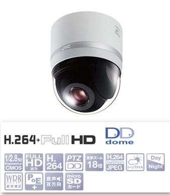 VICTOR HDネットワークコンビネーションドームカメラ VN-H657B
